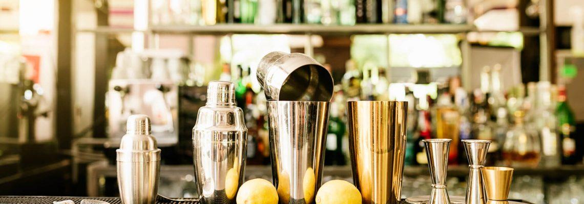 mixology crew cocktail set example on bar