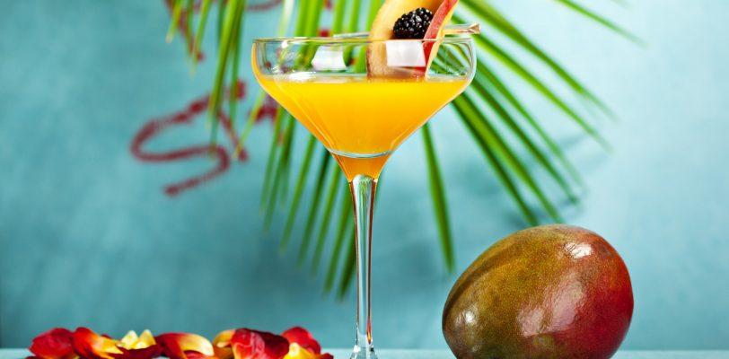 Drink mixology to create a Pornstar Martini